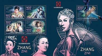CA13422ab Central Africa 2013 Zhang Ziyi MNH SET **