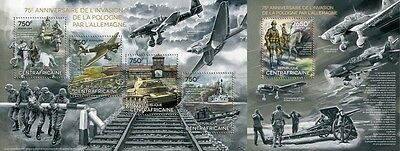 CA14307ab Central Africa 2014 Germany's invasion of Poland MNH SET **