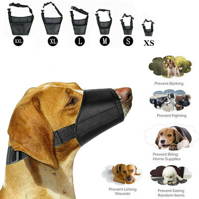 Adjustable Dog Safety Muzzle Muzzel  Biting Barking Chewing All Sizes