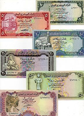 YEMEN Middle East Set of 6 UNC 1,5,10,20,50,100 Rials