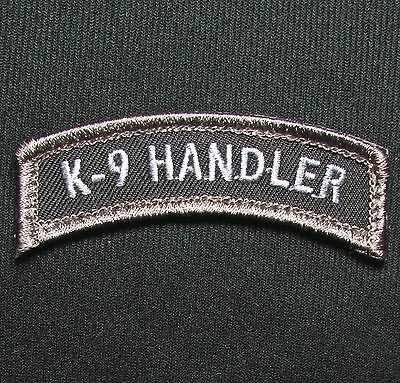K9 Handler Tab Swat Ops Police Dog Tactical Usa Military Hook Morale Patch