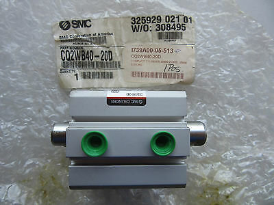 SMC CQ2WB40-20D Compact  Air Cylinder 40MM Bore 20MM Stroke NEW!!! Free Shipping