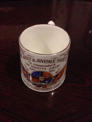 Amazing 1935 Oddfellows Golden Jubilee Commemorative Mug - Halifax
