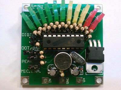 Pre Programmed PIC16F54 ... for the ... 11-Segment VU Display Meter >>KIT<<