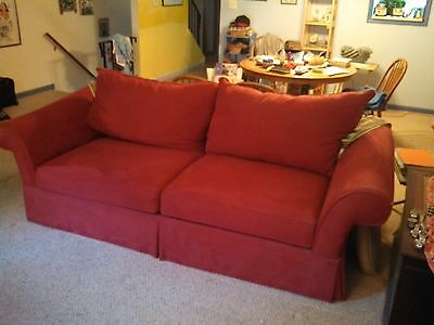 Beautiful Living room Couch, Red, 95 inches long