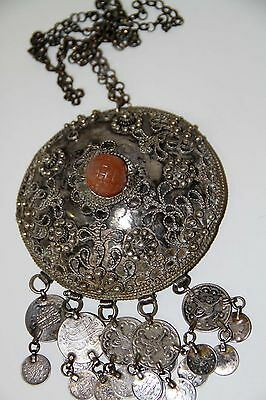 Joy443 Ancient Amulet. Silver And Semiprecious Stone. Possibly Egyptian