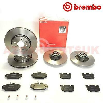 For Renault Clio Sport 172 182 Front Rear Brembo Brake Discs Pads Abs Ring Kit
