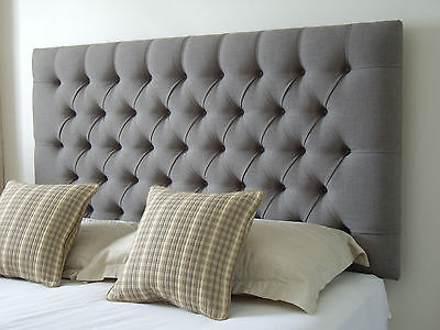 Top Quality Stylish Headboard In Crushed Velvet Fabric All Sizes And Colours 32""