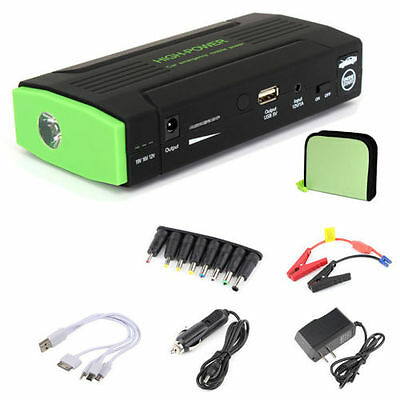 Emergency Car Jump Starter Booster Power Bank LED Phone USB charger 12V