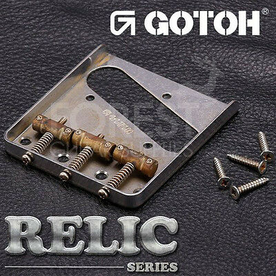 GOTOH ashtray Telecaster® style guitar Bridge BSTC1AC Aged Chrome - RELIC series