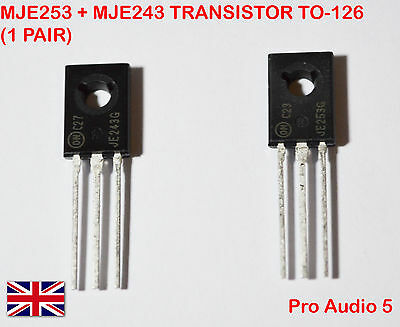 Mje253 + Mje243 Transistor To-126 (1 Pair) - Uk Stock