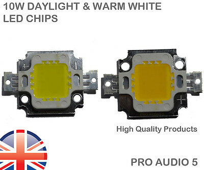 10W High Power LED Chip Light Lamp Bulb Day Light & Warm White UK FREE POST