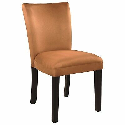 Gold Microfiber Parson Dining Chairs by Coaster - Set of 2