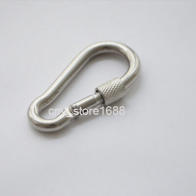 Marine Grade 316 Heavy Duty Carabiner Snap Hook Link 5mm to 12mm