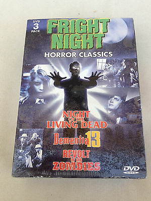 Fright Night Dvd 3 Disc Pack 1998 Horror Classics New Sealed