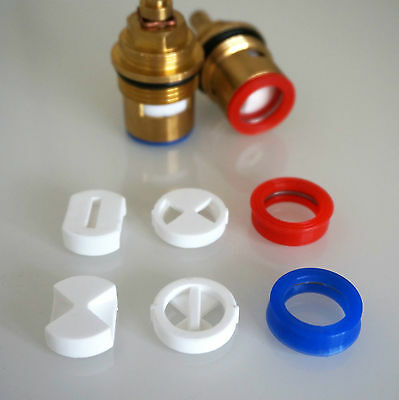 """Replacement Discs & silicone washers for 3/4"""" Bath Ceramic tap valve cartridge"""