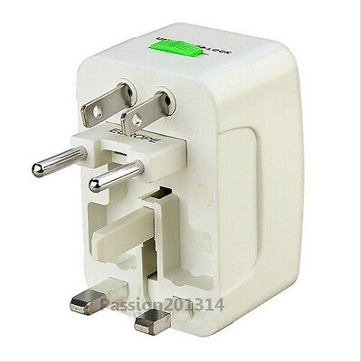Universal Portable World Wide Travel Power Charger Adapter Plug Converter White