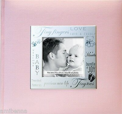 Frame Front 200 Page Pocket Album in Baby Girl Photo Picture Album Pink Picture