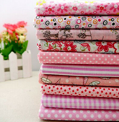 One PCS Cotton Fabric Pre-Cut Cotton cloth Fabric for Sewing Pink H2223