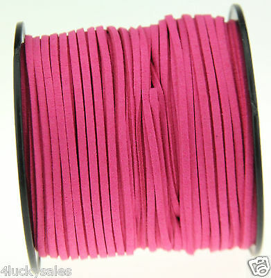 10yd 3mm rose Suede Leather String Jewelry Making Thread Cords hot