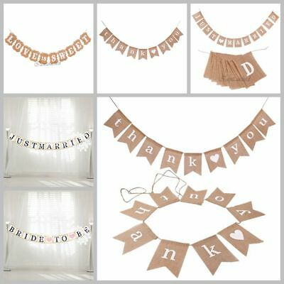 Wedding Bunting Garland Banner Photo Booth Props Just Married Party Decorations