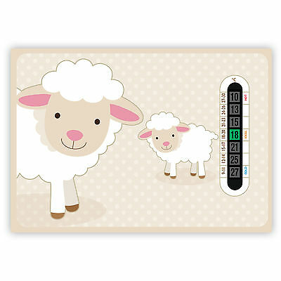 A5 Baby Sheep Nursery and Childrens Room Thermometers