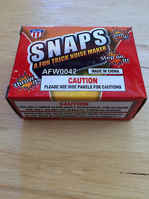 Snaps 5 Boxes Noise Maker Bang Pop Pop Throw Gag Joke Prank Novelty Trick Party