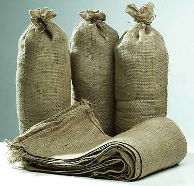 Hessian Sand Bags with Ring Ties 750x325mm (Qty Discounts) Flood Protection Sack