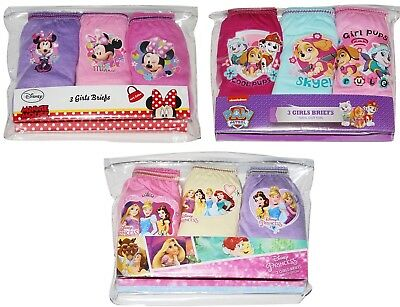 Girls Pants Knickers Paw Patrol Minnie Mouse Princess In Night 2 3 4 5 6 7 8 Yrs