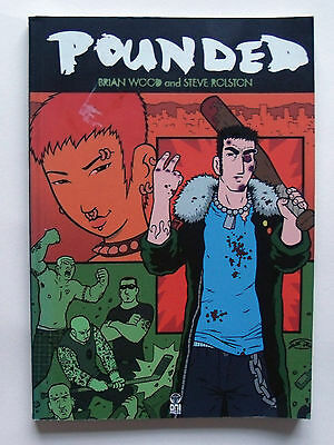 Pounded [2002 Oni Press] TPB collects 1-3 BRIAN WOOD Graphic Novel punk comic