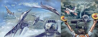 CA14615ab Central Africa 2014 Concorde MNH SET **