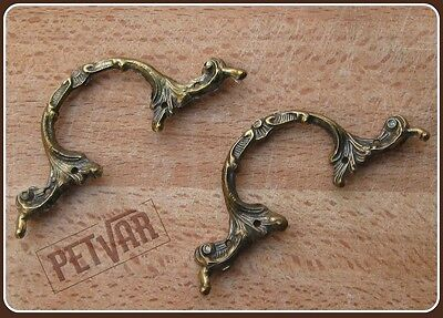 Ornate tray cabinet drawer cupboard antique cast brass handle