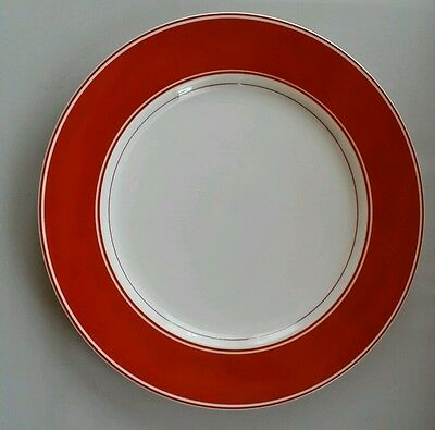 "Fitz and Floyd Red and White 10 1/4"" Dinner Plate (s)"