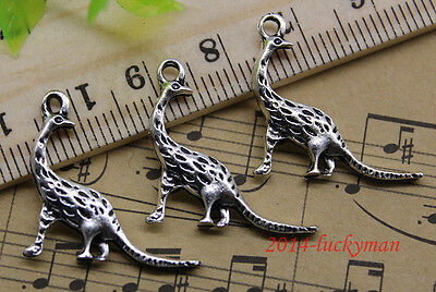 30/60/100pcs retro Jewelry Making DIY dinosaur alloy charms pendant 20x21mm