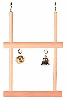 Trixie Double Swinging Trapeze with 2 Bells Bird Cage Play Toy 12cm x 20cm 5822