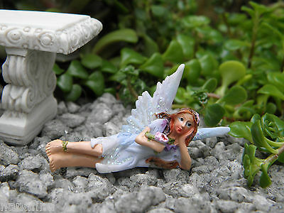 "Miniature Dollhouse FAIRY GARDEN ~ TINY 2"" Sun Kissed Fairy BLUE ~ NEW"