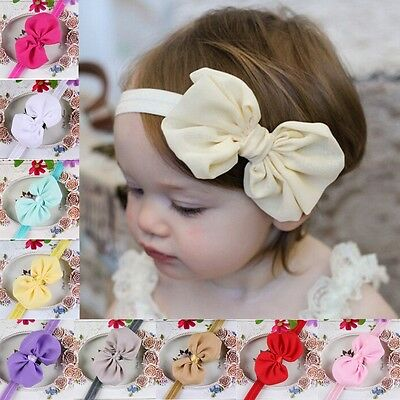 10pcs/lot Kids Girl Baby Toddler Bowknot Headband Hair Band Headwear Accessories
