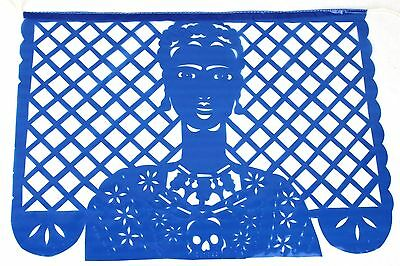Set Of Three (3) Frida Kahlo Theme Mexican Papel Picado Banners Bunting Plastic