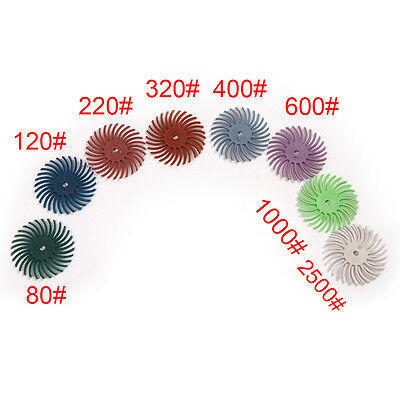 2mm Grit 80# to 2500# Radial Bristle Disc Brush for Polishing Deburring Jewelry
