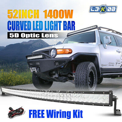 52inch 700W OSRAM Curved LED Light Bar Flood Spot Offroad Work Pickup 4x4WD 50""