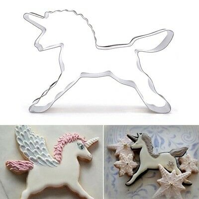 Unicorn Horse Cookie Cutter Biscuit Sugercraft Cake Topper Fondant Mold