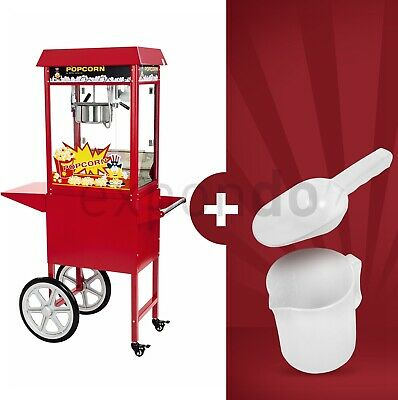 Popcorn Maker Machine 8 Oz Large Popcorn Making Popping Corn Kernels With Cart