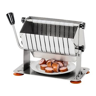 Sausage Cutter Stainless Steel Slice Width 18 Mm Hand-Operated 10 Knives New