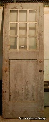 Antique Vintage 9 Light Barn Door Rustic Industrial Farm Architectural Salvage
