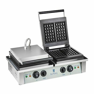 Catering Double Belgian Waffle Baker Maker Grill Machine 4000 W 50 - 300 °C New