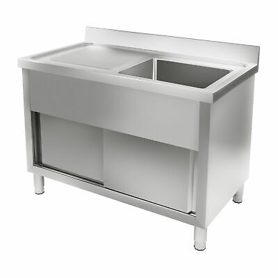 Stainless steel Double kitchen unit Kitchen sink steel sink Sliding doors