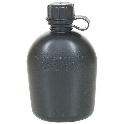 Canteen 1 Quart Government Issue US Military Surplus Rugged Lightweight Black