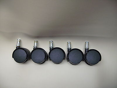 """Heavy Duty chair casters--- office chairs, 2"""" Wheel  7/16 stem set of 5 pcs"""