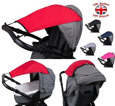 Multi-Way Sunshade Waterproof Canopy Pram Pushchair Stroller Baby Universal