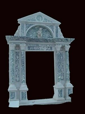 Incredible Hand Carved Marble 2 Tone Entry Way Z14